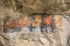 Old cave murals, Bulgaria Royalty Free Stock Photo