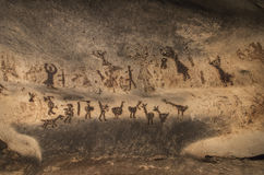 Old cave paintings royalty free stock images
