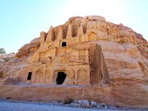 old stone caves in the dessert royalty free stock photos