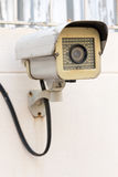 The Old CCTV Security Camera operating long time Royalty Free Stock Image