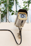 The Old CCTV Security Camera operating long time Stock Images