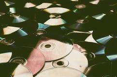 Old cd compact disc Stock Photos