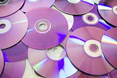Old CDs. Some Dust and dirt on CDs. Cd,cds,dvd royalty free stock photography