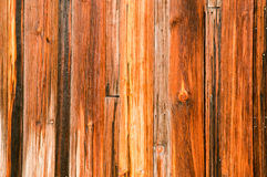 Old Cedar Wood Planks. Cedar wood planks on the exterior of an old building stock photos