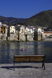Old cefalu. Old town Cefalù in Sicily at summer stock image