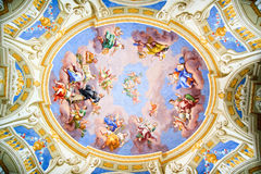 Old ceiling painting Royalty Free Stock Image