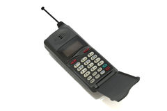 Old cell phone. On the white background Stock Images