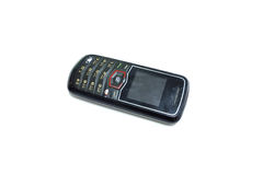 Old cell phone. On the white background Royalty Free Stock Photos