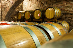 Old Cellar. Italy, Tuscany, old canteen in Val d'Orcia area dedicated to wine production royalty free stock photography