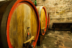 Old Cellar. Italy, Tuscany, old canteen in Val d'Orcia area dedicated to wine production stock photos