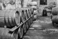 Old Cellar. Italy, Tuscany, old canteen in Val d'Orcia area dedicated to wine production royalty free stock photos