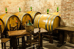 Old Cellar. Italy, Tuscany, old canteen in Val d'Orcia area dedicated to wine production stock photo