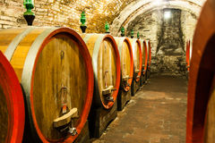 Old Cellar. Italy, Tuscany, old canteen in Val d'Orcia area dedicated to wine production stock photography