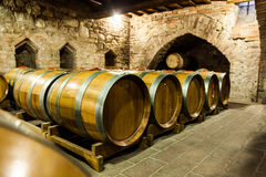 Old Cellar. Italy, Tuscany, old canteen in Val d'Orcia area dedicated to wine production royalty free stock image