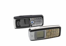 Old cellular(mobile) phones. Royalty Free Stock Photo