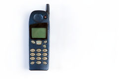 Old cellular phone. Vintage technology Royalty Free Stock Image
