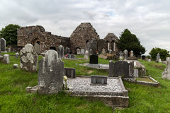 Old celtic cemetery graveyard in ireland Stock Photo