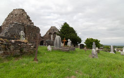 Old celtic cemetery graveyard in ireland Royalty Free Stock Images
