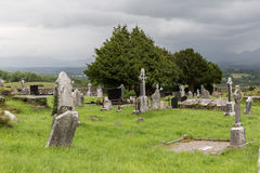 Old celtic cemetery graveyard in ireland Stock Photos
