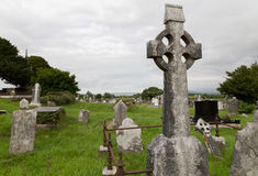 Old celtic cemetery graveyard in ireland Royalty Free Stock Photography