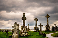 Old celtic cemetery in Ireland royalty free stock photos