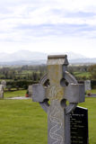 An old celtic cross in the countryside Royalty Free Stock Photos