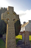 Old Celtic Cross in Scottish Graveyard Royalty Free Stock Photo