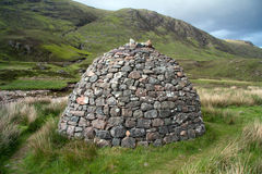 An old celtic dwelling royalty free stock photo