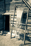 Old Celtic loom. At open-air museum Havronok, Slovakia stock photo