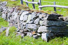 Old celtic stone wall Royalty Free Stock Photo