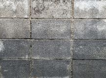 Old cement block wall Royalty Free Stock Images