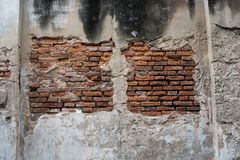 Old Cement concrete texture wall as background. And brick to design background Royalty Free Stock Photography