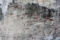 Old cement dry Wall Texture background image. Coat on top red brick. Panorama, wide, concrete, cement, surface, gray, floor, abstract, white, rough, design stock photos