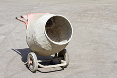 Old cement mixer. Old electric powered cement mixer Royalty Free Stock Photography