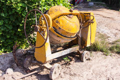 Old Cement mixer. Object Stock Photo