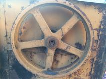 Old cement mixer with rust. Old iron with rust Stock Photography