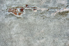Old cement plaster and old red brick Royalty Free Stock Image