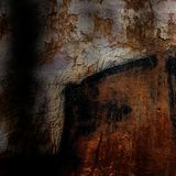 Old cement plaster walls with traces of paint. Element of design Royalty Free Stock Photos