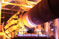 Old cement production equipment Royalty Free Stock Photo