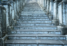 Old cement stairs to palace, vintage style Stock Photo