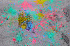 Old cement wall with multicolor Stock Image