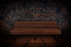 Old cement wall with old tile floors and benches. Stock Photography