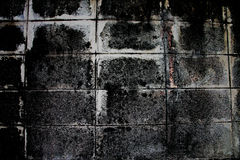Old cement wall texture of dark color. Royalty Free Stock Photography