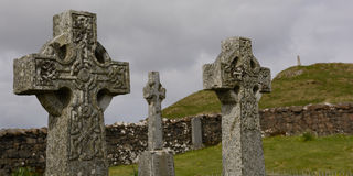 Old cementery. Celtic crosses on an old cementery Stock Image