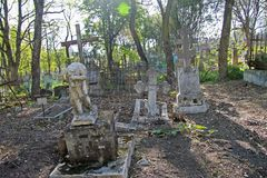 The Old cemetary. Historical part of Pyatigorsk royalty free stock image