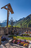 Old cemetery cross in South Tyrol Royalty Free Stock Photography