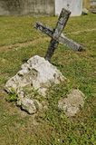 Old cemetery cross and tomb Royalty Free Stock Photography