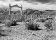 Old cemetery in the desert Royalty Free Stock Image