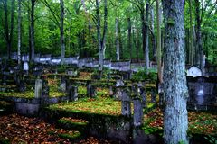 The old cemetery Stock Image