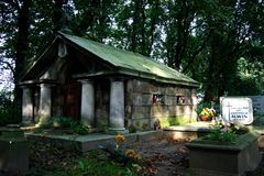 The old cemetery Stock Photography